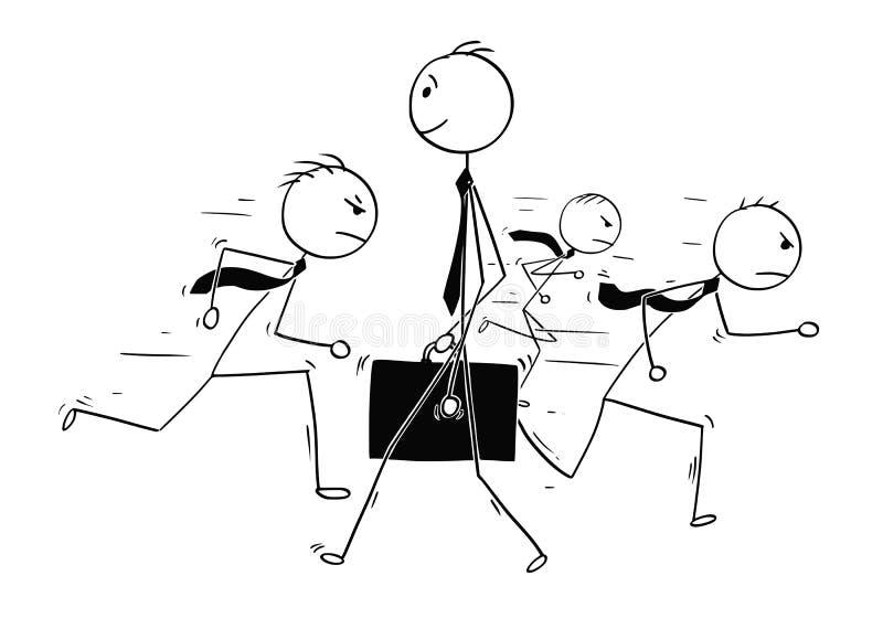 Konceptualna kreskówka biznesmen indywidualności pozycja Z ilustracji