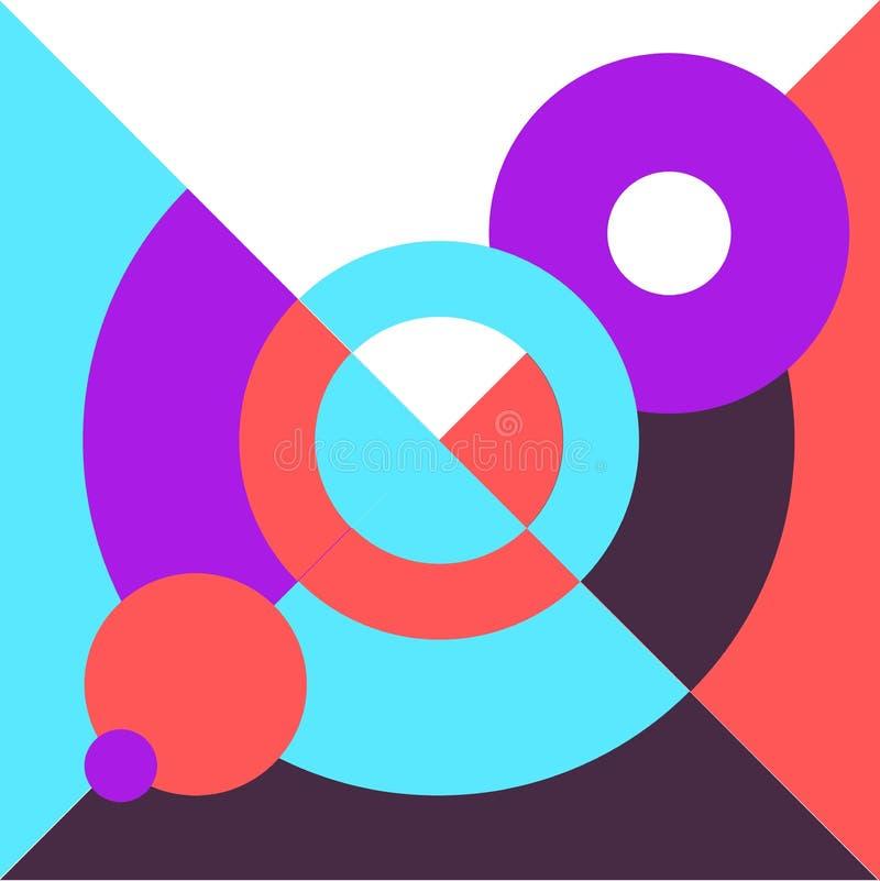 Konceptualna nowożytnego projekta ilustracja Abstrakcjonistyczny geometrii pokrywy trendu stylu plakat zdjęcie stock