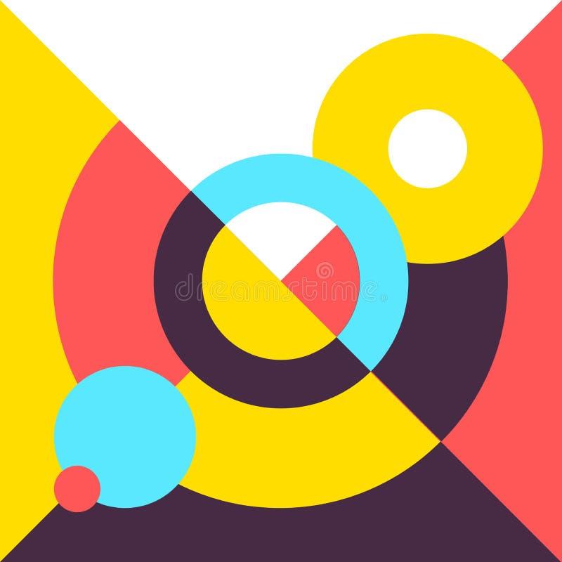 Konceptualna nowożytnego projekta ilustracja Abstrakcjonistyczny geometrii pokrywy trendu stylu plakat fotografia royalty free