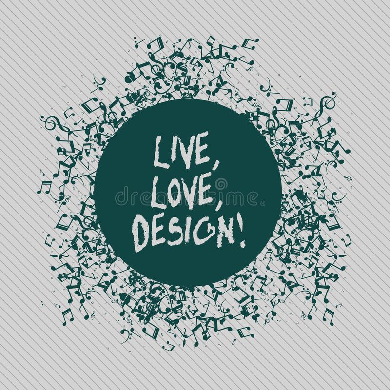 Konceptualna ręka pisze pokazywać Żywego miłość projekt Biznesowy fotografia tekst Istnieje czułość Tworzy Pasyjnego pragnienie ilustracja wektor