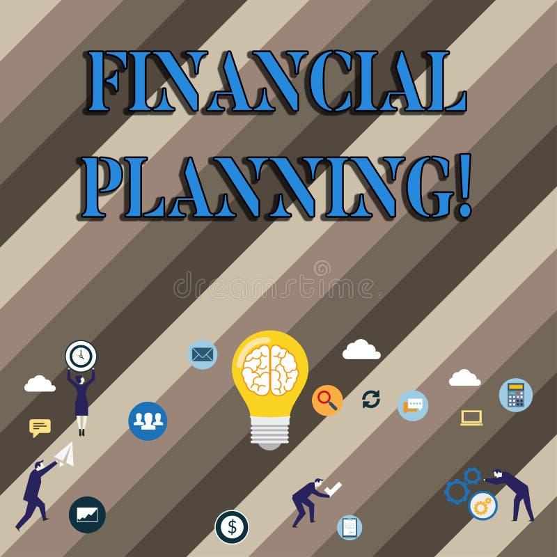 Konceptualna ręka pisze pokazywać Pieniężnego planowanie Biznesowa fotografia pokazuje księgowości Planistyczną strategię Analizu ilustracji