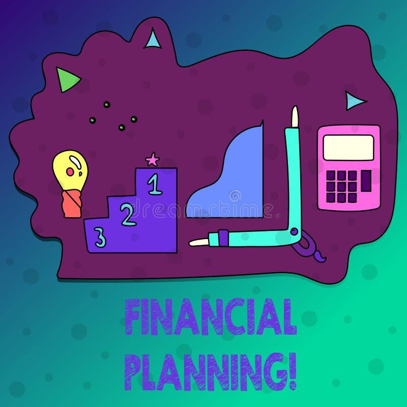 Konceptualna ręka pisze pokazywać Pieniężnego planowanie Biznesowej fotografia teksta księgowości Planistyczna strategia Analizuj royalty ilustracja