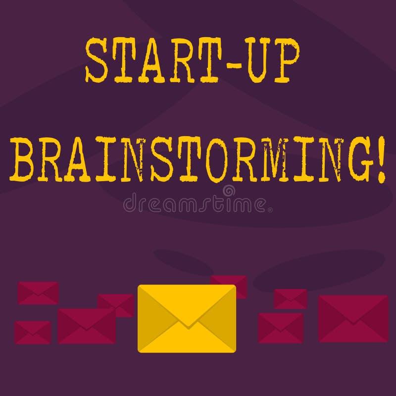 Konceptualna ręka pisze pokazywać Zaczyna W górę Brainstorming Biznesowa fotografia teksta drużyny praca dla robić strategiom now ilustracja wektor