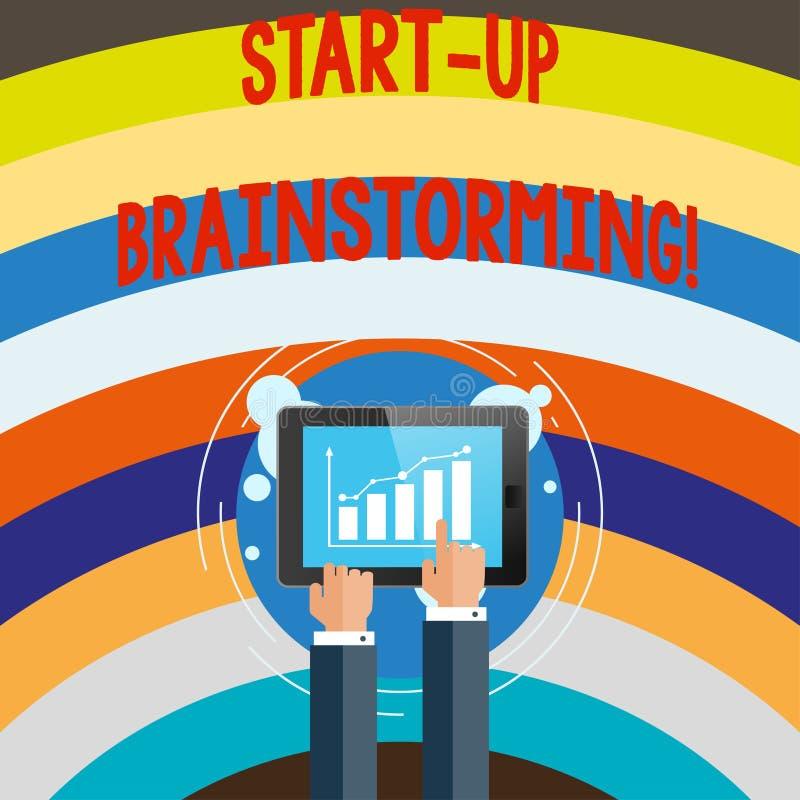 Konceptualna ręka pisze pokazywać Zaczyna W górę Brainstorming Biznesowa fotografia teksta drużyny praca dla robić strategiom now royalty ilustracja
