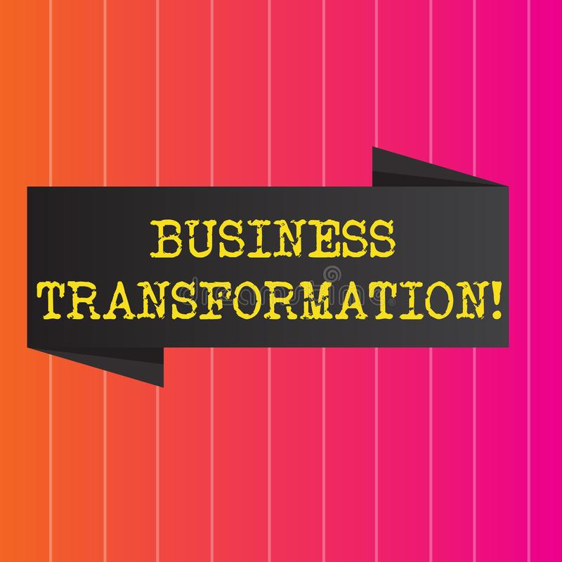 Konceptualna ręki writing seansu biznesu transformacja Biznesowa fotografia pokazuje robić zmienia w conduction firma ilustracji
