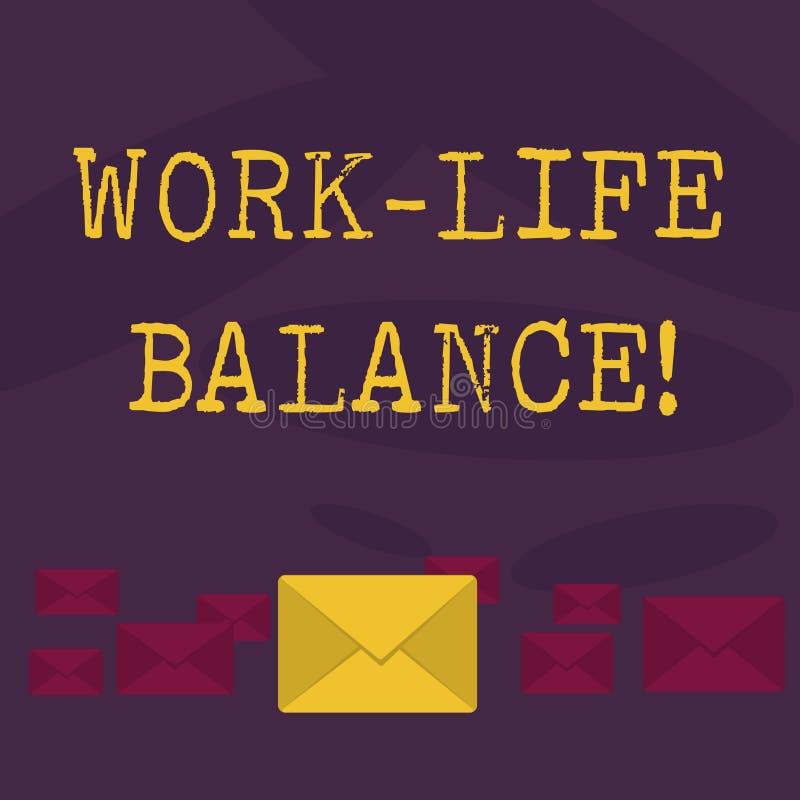 Konceptualna ręki writing seansu pracy życia równowaga Biznesowy fotografia teksta podział czas między pracować lub rodziną i ilustracji