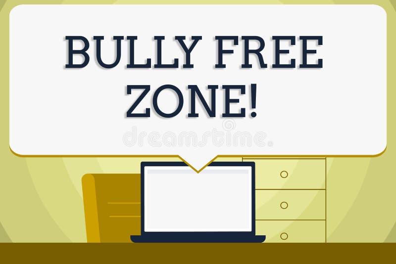 Konceptualna ręka pisze pokazywać łobuz wolną strefę Biznesowa fotografia pokazuje tworzący nadużycie bezpłatnej szkoły szkoły wy ilustracji