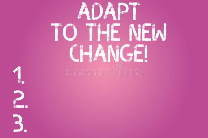 Konceptualna ręka pisze pokazywać Adaptuje Nowa zmiana Biznesowy fotografia tekst Dostawać używał zmian różne strategie sytuacje zdjęcie royalty free