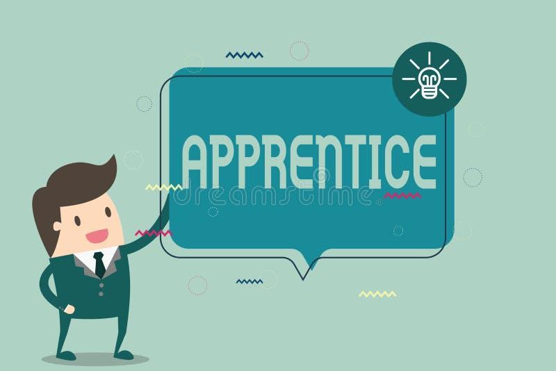 Konceptualna ręka pisze pokazywać aplikanta Biznesowy fotografia teksta osoby uczenie szkolenie od mentora stażysty praktykanta royalty ilustracja