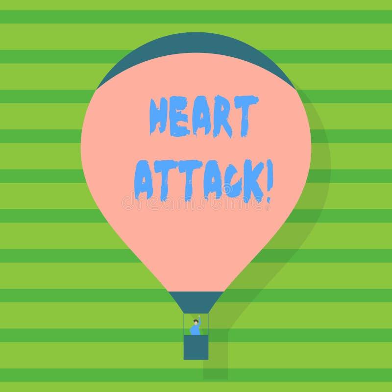 Konceptualna ręka pisze pokazywać atak serca Biznesowa fotografia pokazuje nagłego występowanie wieńcowy zakrzepica ilustracja wektor