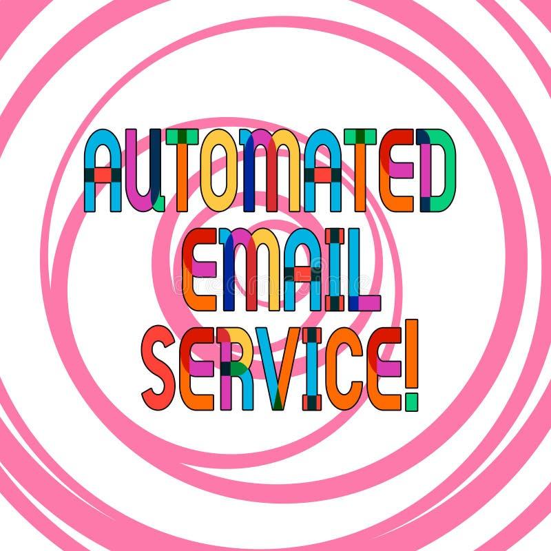 Konceptualna ręka pisze pokazywać Automatyzującej poczty elektronicznej Biznesowa fotografia pokazuje automatyczny podejmowanie d ilustracji