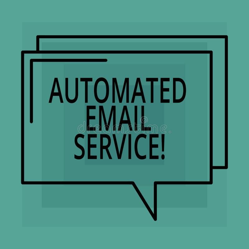 Konceptualna ręka pisze pokazywać Automatyzującej poczty elektronicznej Biznesowego fotografia teksta automatyczny podejmowanie d ilustracji