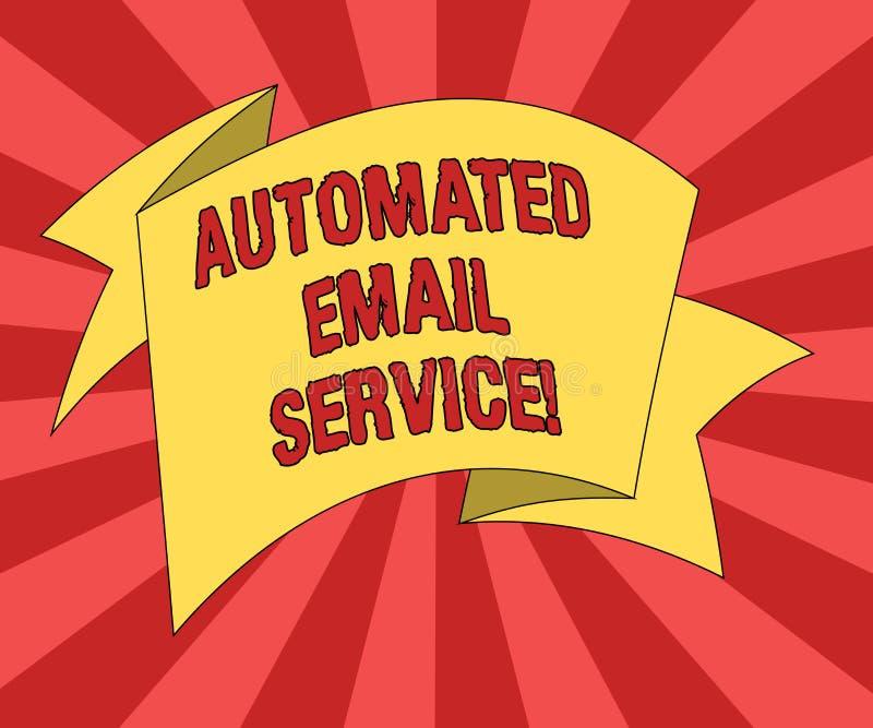 Konceptualna ręka pisze pokazywać Automatyzującej poczty elektronicznej Biznesowego fotografia teksta automatyczny podejmowanie d ilustracja wektor
