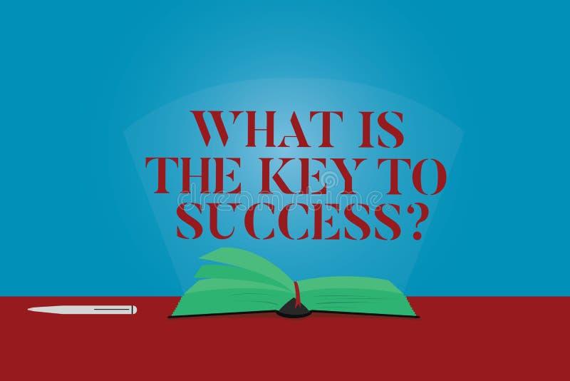 Konceptualna ręka pisze pokazywać Co Jest kluczem sukces Biznesowe fotografia teksta rady osiągać cele biznesowych ilustracja wektor
