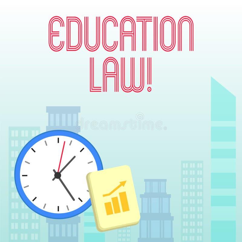 Konceptualna ręka pisze pokazywać edukacji prawo Biznesowa fotografia pokazuje legalną dyscyplinę zakrywa wszystko wydaje pertain royalty ilustracja
