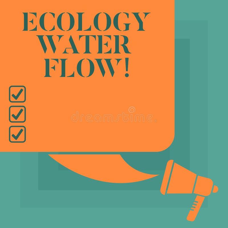 Konceptualna ręka pisze pokazywać ekologii wody przepływ Biznesowy fotografia teksta system dla analysisaging ilość synchronizuje ilustracja wektor