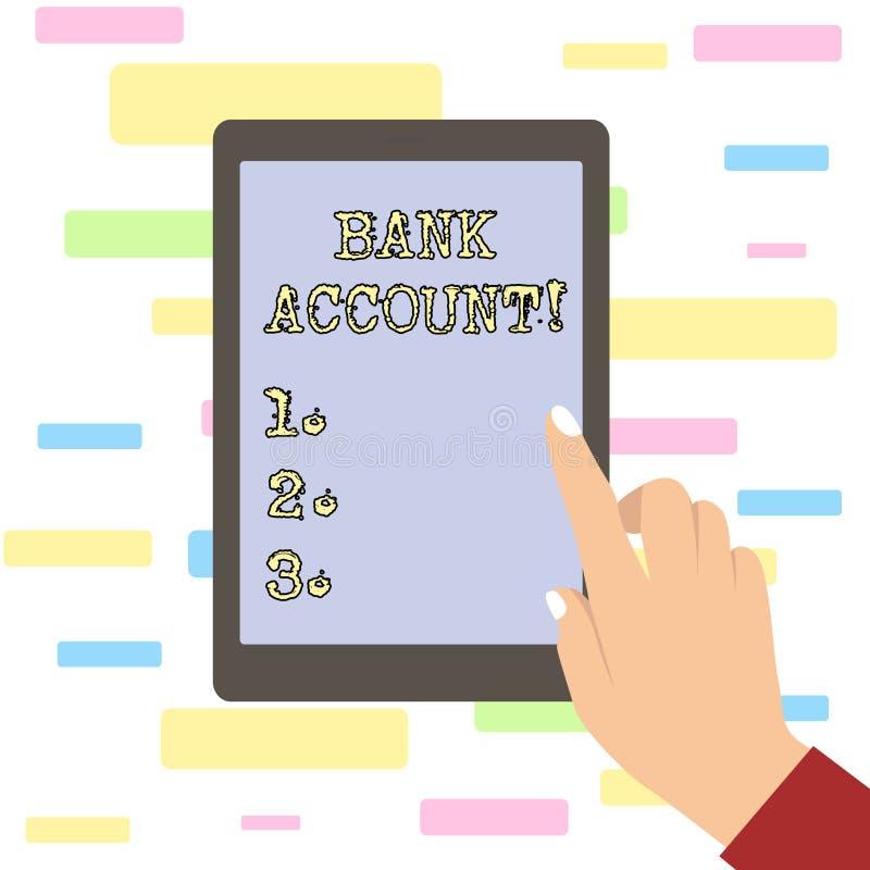 Konceptualna ręka pisze pokazywać konto bankowe Biznesowy fotografia tekst Reprezentuje fundusze który powierzał klient ilustracja wektor