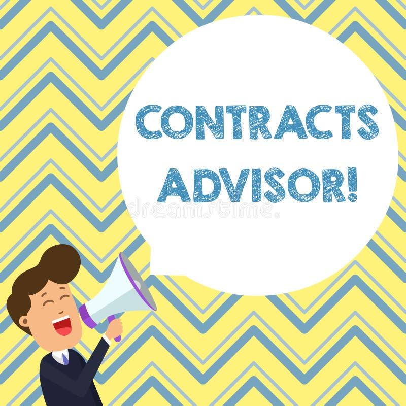 Konceptualna ręka pisze pokazywać kontrakta Advisor Biznesowy fotografia tekst zapewnia egzekwowanie definiujący stręczycielstwo ilustracji