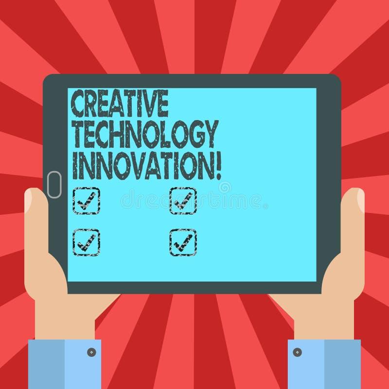 Konceptualna ręka pisze pokazywać Kreatywnie technologii innowację Biznesowy fotografia tekst spuszczać ze smyczy umysł poczynać  ilustracja wektor