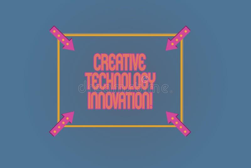 Konceptualna ręka pisze pokazywać Kreatywnie technologii innowację Biznesowy fotografia tekst spuszczać ze smyczy umysł poczynać  royalty ilustracja