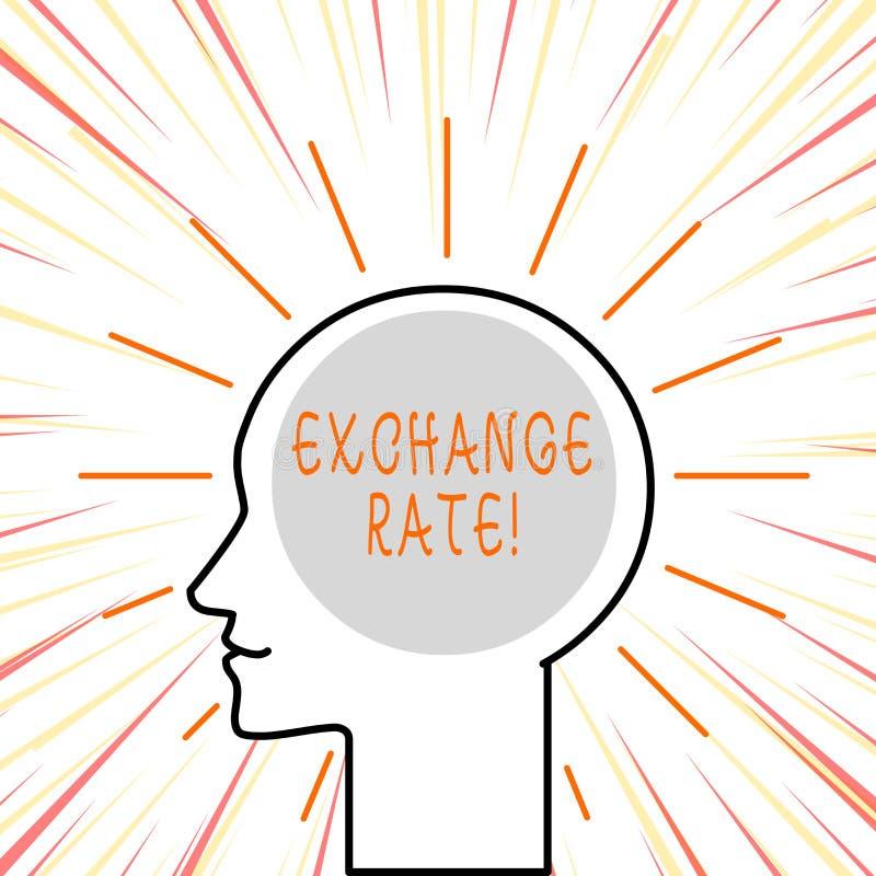 Konceptualna ręka pisze pokazywać kurs wymianego Biznesowa fotografia teksta wartość jeden waluta dla zamiany royalty ilustracja