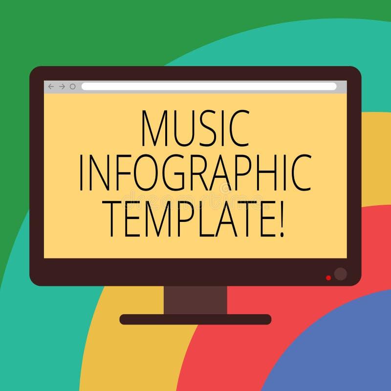Konceptualna ręka pisze pokazywać Muzycznego Infographic szablon Biznesowa fotografia pokazuje przedstawicielstwa informacja w a ilustracji