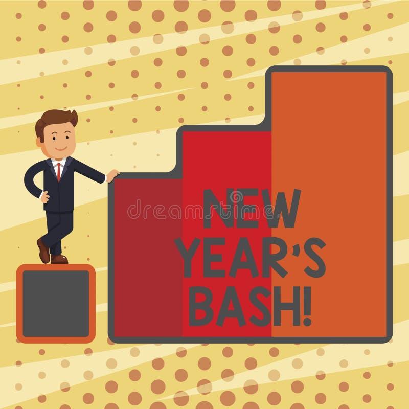 Konceptualna ręka pisze pokazywać nowego roku S jubel Biznesowy fotografia teksta świętowanie 365 dni przychodzi Szczęśliwego par ilustracji