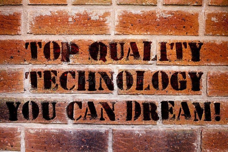 Konceptualna ręka pisze pokazywać Odgórnej ilości technologię Ty Możesz Marzyć Biznesowy fotografia teksta Dobrze nowożytny techn zdjęcie royalty free