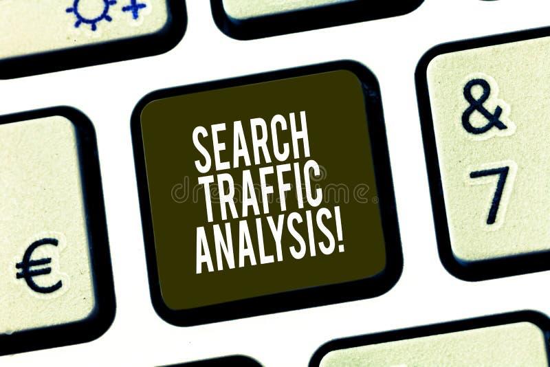 Konceptualna ręka pisze pokazywać rewizja ruchu drogowego analizę Biznesowa fotografia pokazuje sieci bandwidth monitorowanie opr zdjęcia stock