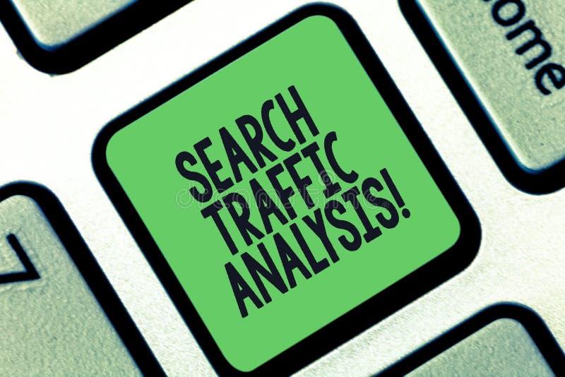 Konceptualna ręka pisze pokazywać rewizja ruchu drogowego analizę Biznesowy fotografia teksta sieci bandwidth monitorowanie oprog zdjęcia stock
