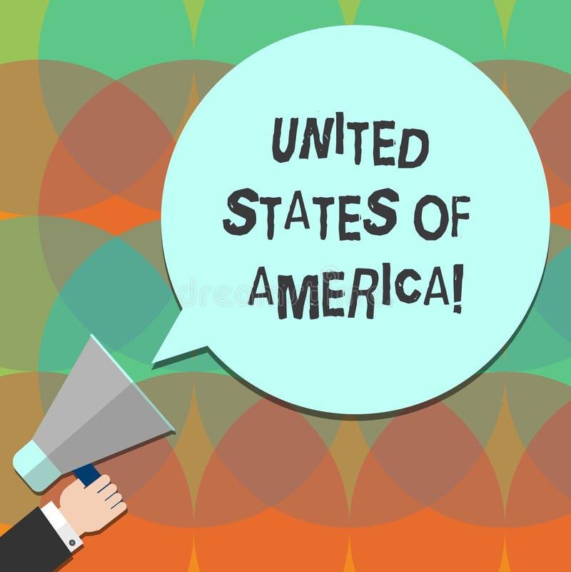 Konceptualna ręka pisze pokazywać Stany Zjednoczone Ameryka Biznesowy fotografia teksta kraj w północny Kapitałowy washington dc ilustracji