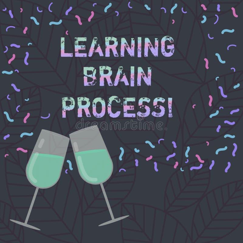 Konceptualna ręka pisze pokazywać uczenie mózg proces Biznesowy fotografia teksta nabywanie nowy lub modyfikuje istnieć ilustracja wektor