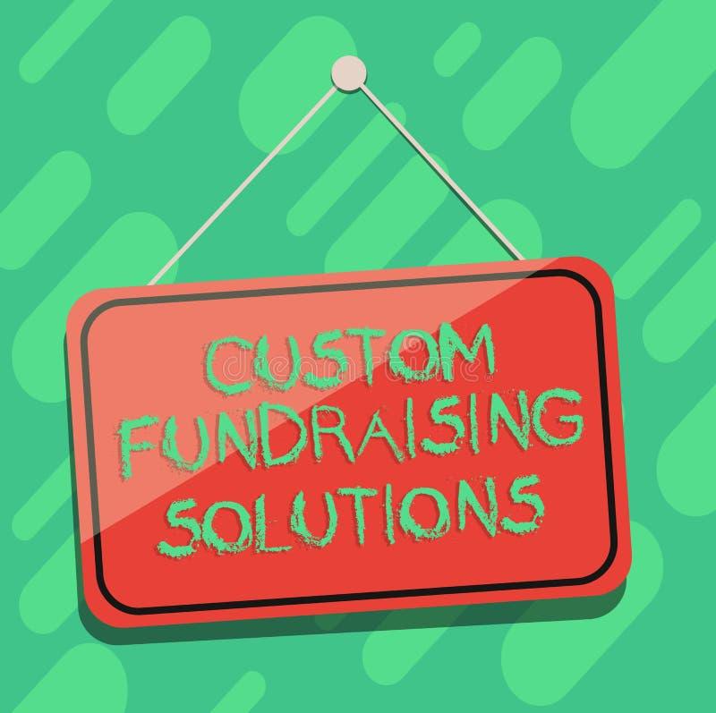 Konceptualna ręka pisze pokazywać zwyczajów Gromadzi fundusze rozwiązania Biznesowa fotografia pokazuje oprogramowanie pomagać po royalty ilustracja