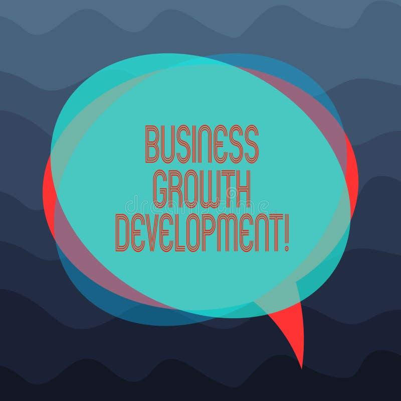 Konceptualna ręka pisze seansu biznesu przyrosta rozwoju Biznesowa fotografia pokazuje ulepszający niektóre miarę przedsięwzięcie ilustracja wektor
