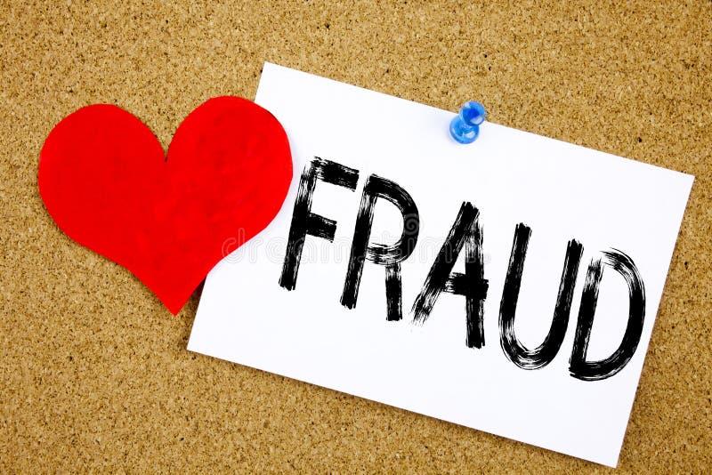 Konceptualna ręki writing teksta podpisu inspiracja pokazuje oszustwa pojęcie dla Kryminalnego hacker ochrony zapobiegania i miło obrazy royalty free