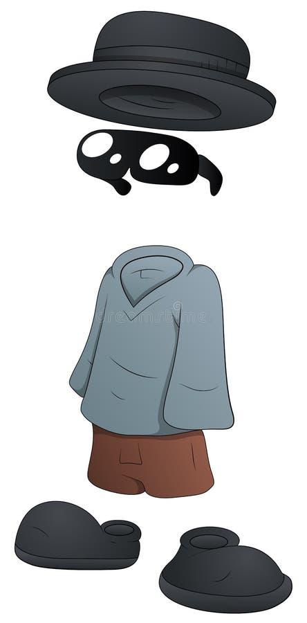 Niewidzialny mężczyzna Wektorowa ilustracja - postać z kreskówki - ilustracja wektor