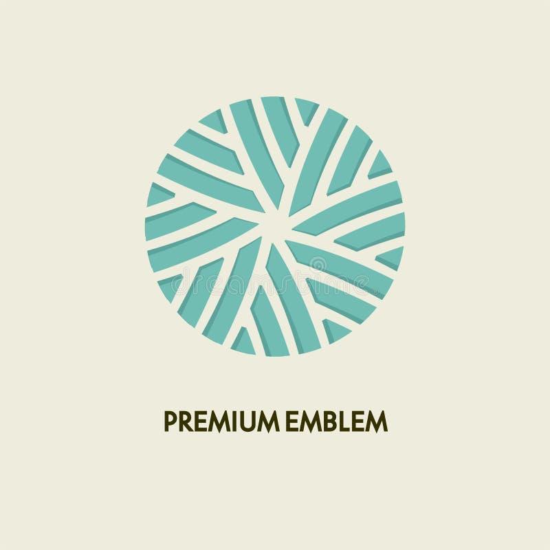 Konceptualnego szablonu loga wektorowy round projekt i monograma pojęcie w modnej, kwiecistej odznace, emblemat dla mody, piękno ilustracji