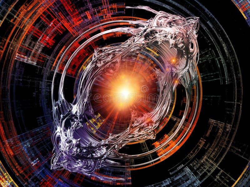 Konceptualni Promieniowi promienie ilustracja wektor