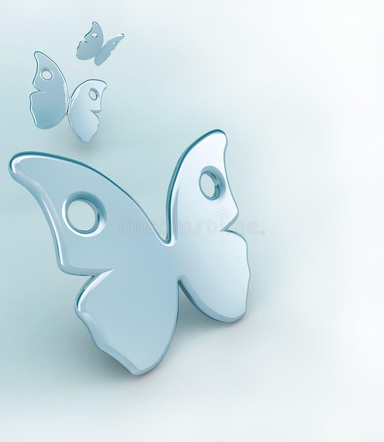 konceptualni tło motyle royalty ilustracja