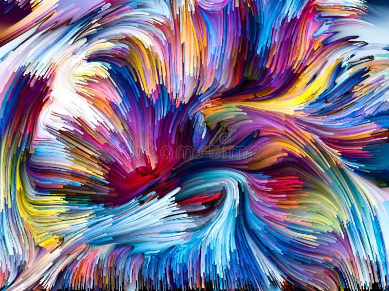 Konceptualni Zrastający się kolory ilustracja wektor