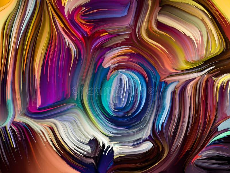 Konceptualni Zrastający się kolory ilustracji