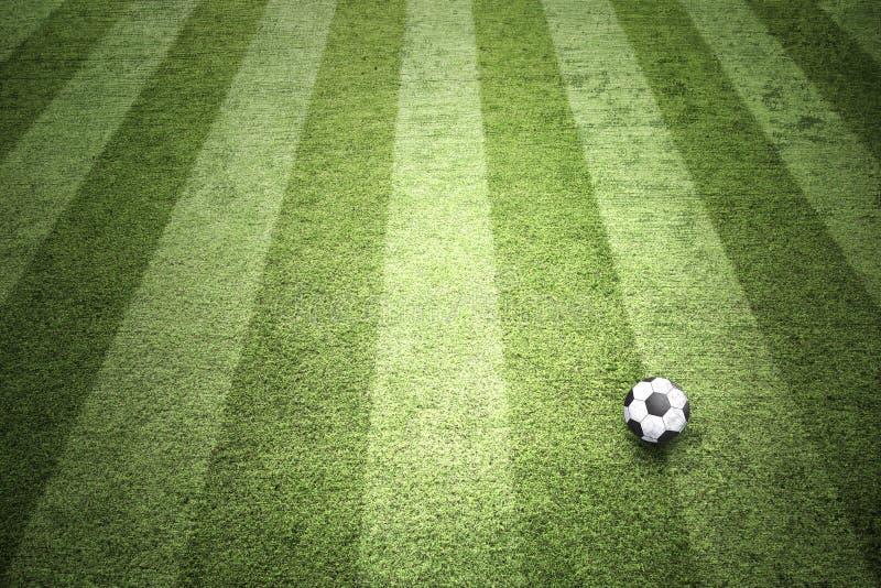 Konceptualny boisko do piłki nożnej z balowym tłem obrazy royalty free