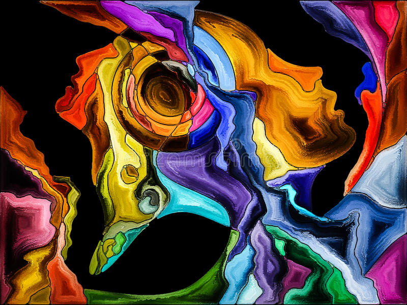 Konceptualny jaźń fragmentaryzacja ilustracji