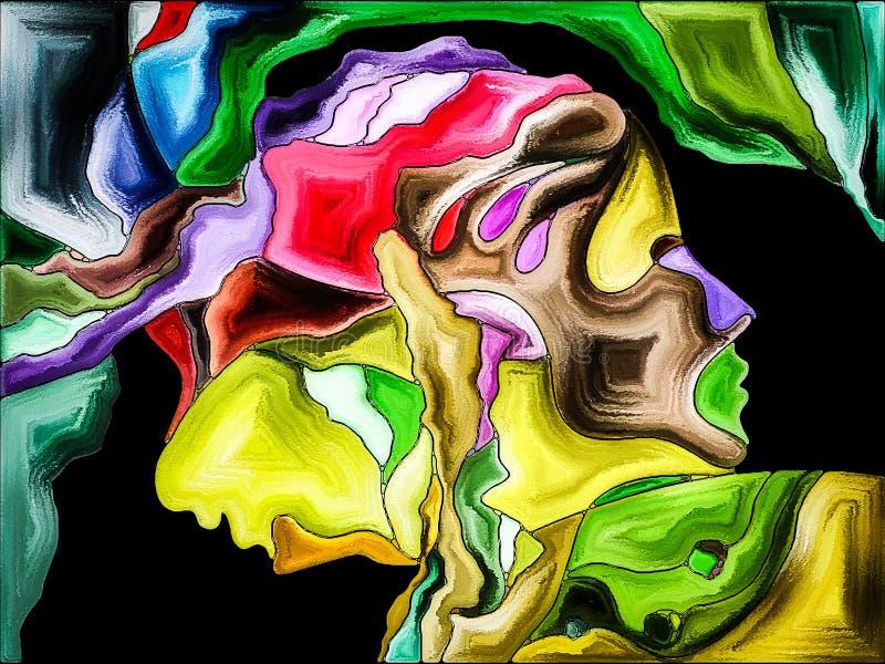 Konceptualny jaźń fragmentaryzacja ilustracja wektor