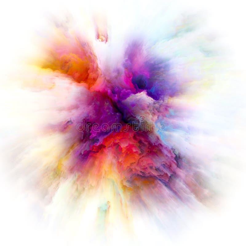 Konceptualny koloru pluśnięcia wybuch ilustracja wektor