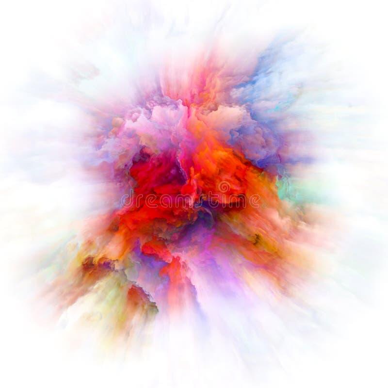 Konceptualny koloru pluśnięcia wybuch royalty ilustracja