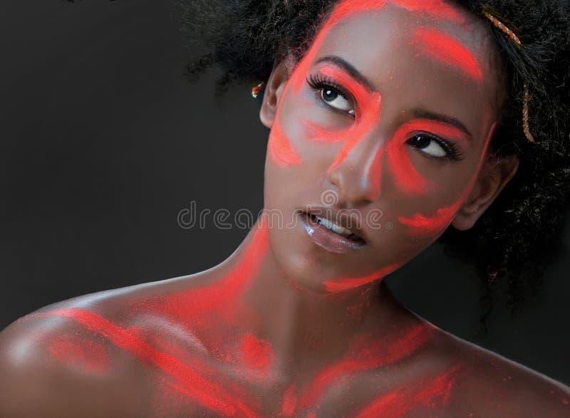 konceptualny makeup obraz royalty free