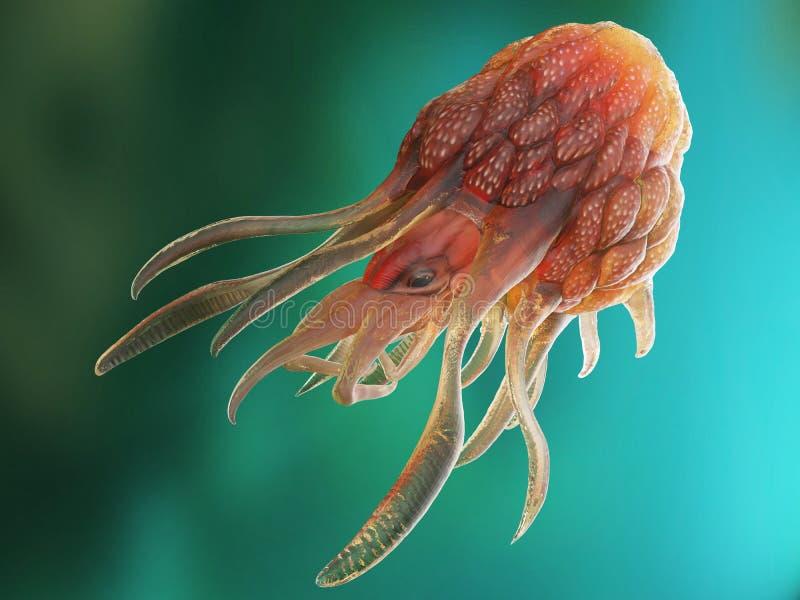 Konceptualny nowotworu potwór royalty ilustracja