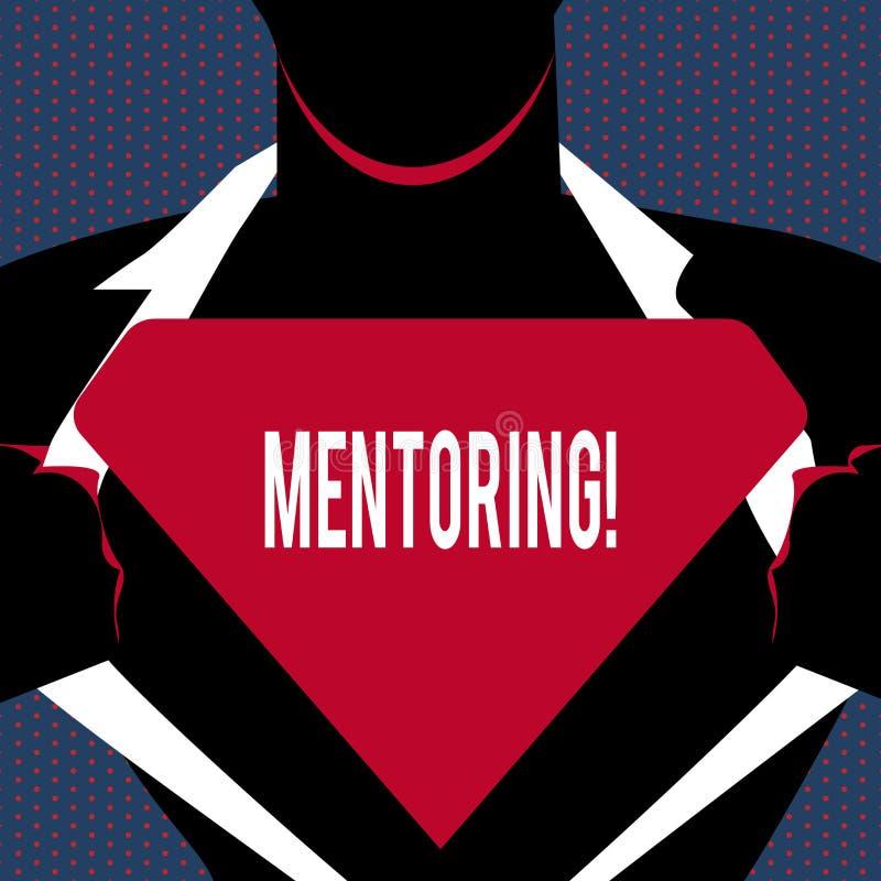 Konceptualny ręki writing pokazuje obowiązki mentora Biznesowy fotografia tekst dawać radzie lub poparciu młody mniej doświadczon ilustracja wektor