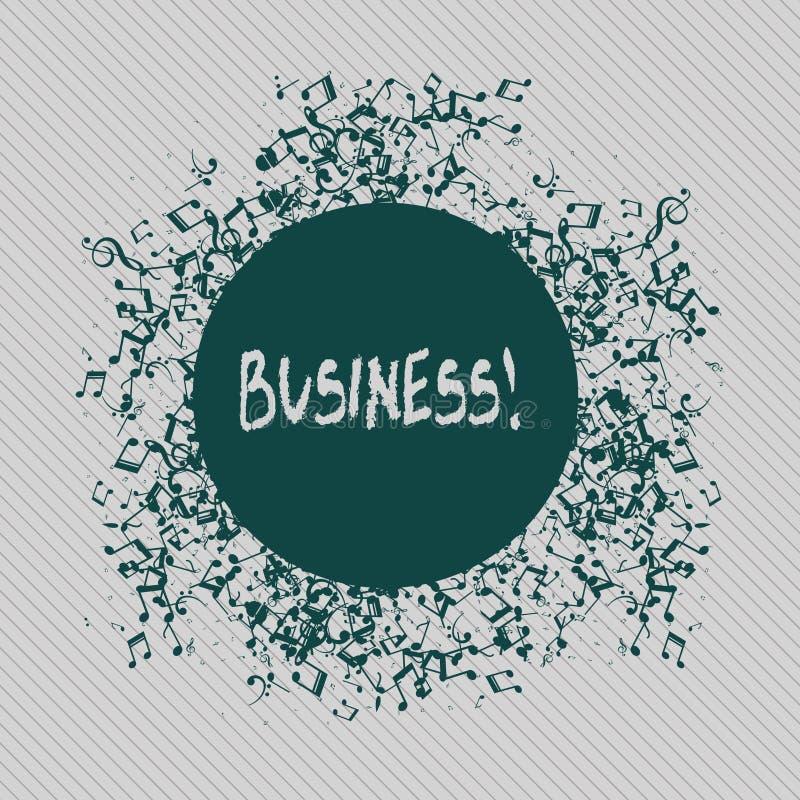 Konceptualny ręki writing seansu biznes Biznesowa fotografia teksta handlu praca Specjalność Korporacyjny Zajęcie Przedsiębiorca  ilustracja wektor